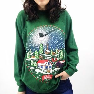 Vintage Ugly Christmas Sweater Large